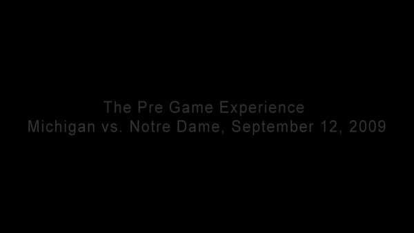 Pre Gaming, UMich vs Notre Dame, September 12, 2009