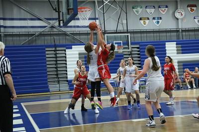 HS Sports - New Boston Huron vs. Gibraltar Carlson Girls Basketball 19