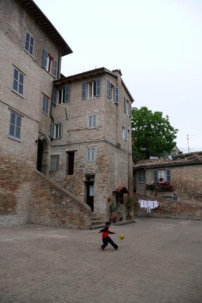 Local football star. Urbino, Marche
