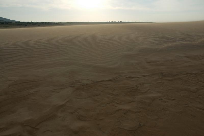 Sun beaming onto the white sand dunes - Mui Ne, Vietnam