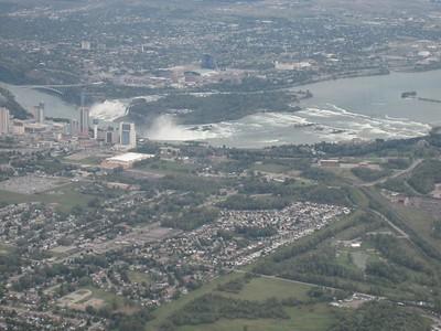 Niagara Falls from the air..
