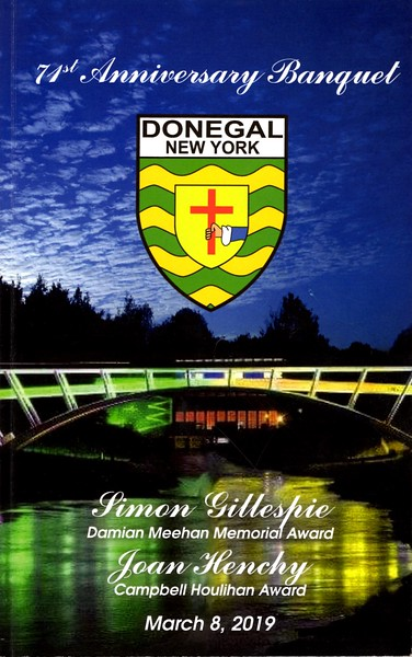County Donegal Gaelic Football Club of New York's 71st Anniversary Banquet