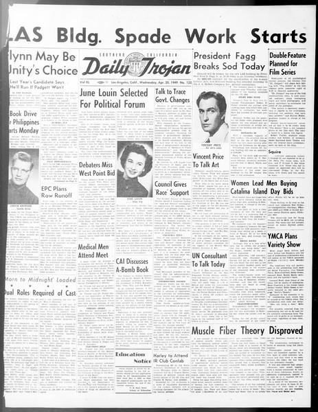 Daily Trojan, Vol. 40, No. 122, April 20, 1949