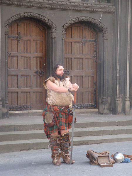 We had 1/2 an hour in Edinburgh on the way back, where we found this gentleman guarding a doorway in the Royal Mile (which has Edinburgh Castle at one end, and Holyrood Palace at the other).