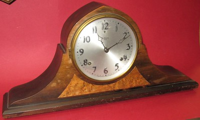 Gilbert Tambour Mantel Clock with Bim-Bam Hour Strike