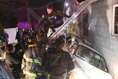 Bethpage F.D. MVA w/ Car Into a House  Thorne Drive 3/1/21
