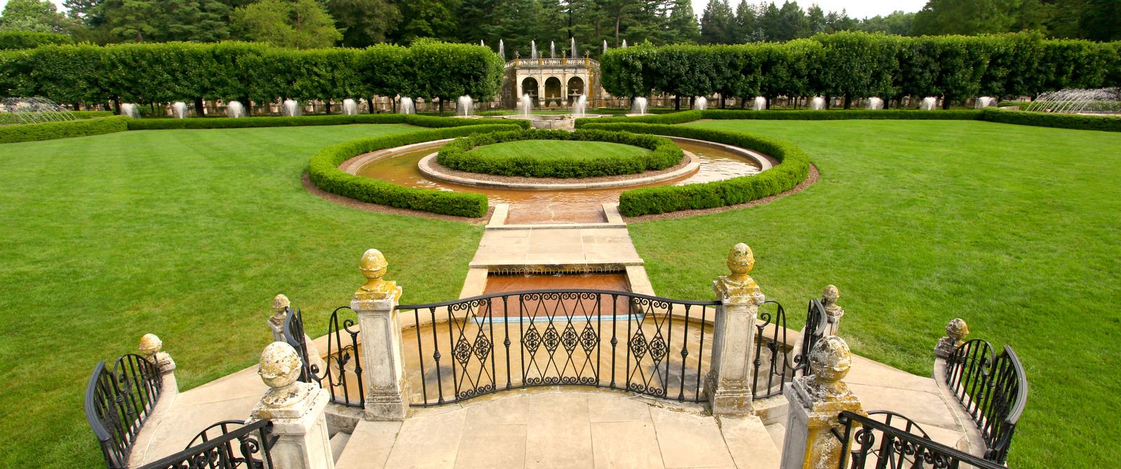 费城长木公园,改建前的中心喷泉花园