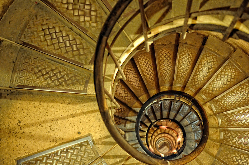 The stairs to the top of the Arc de Triomphe.