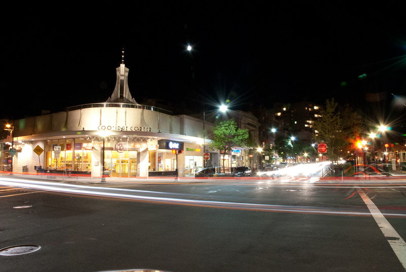Coolidge Corner @ night.