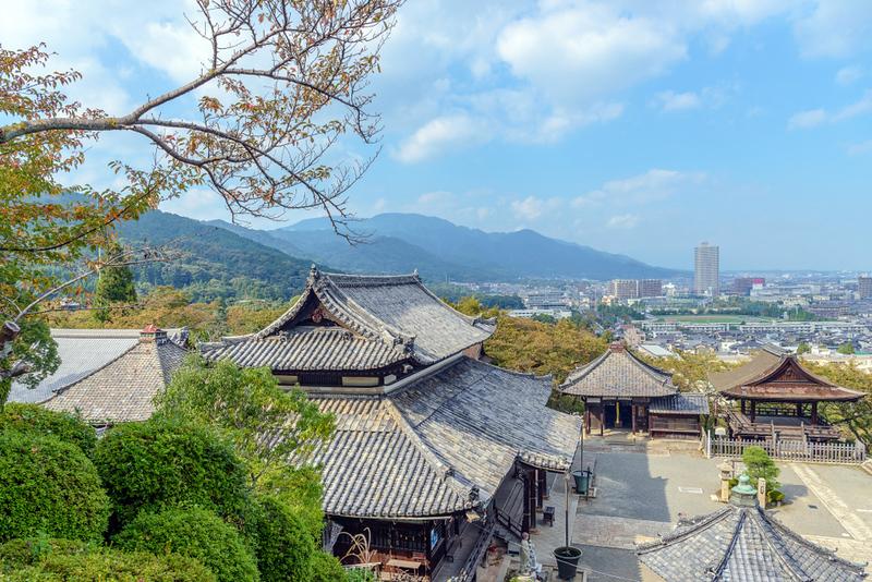 Otsu city from Kannondo in Mii dera temple