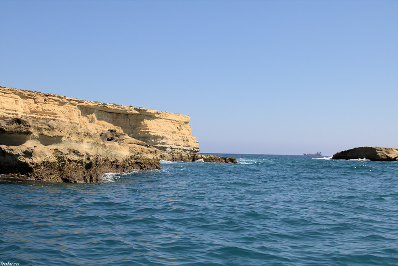 Malta.   Marsaxlokk Harbor     Coming up to Ilt-Taqtiegha-tad-Delimara      03/24/19.     This work is licensed under a Creative Commons Attribution- NonCommercial 4.0 International License