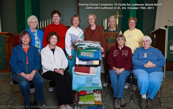 2011 SJL Sewing Group Completes 70 Quilts for LWR