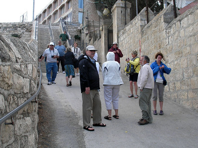 2011-05-12 - Palm-Sunday-Walk Garden-of-Gethsemane Church-of-Peter-where-rooster-Crowed Jewish-Qtr