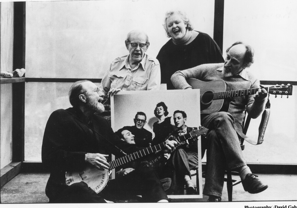 . The Weavers: Pete Seeger, Lee Hays, Ronnie Gilbert and Fred Hellerman. David Gahr photo.