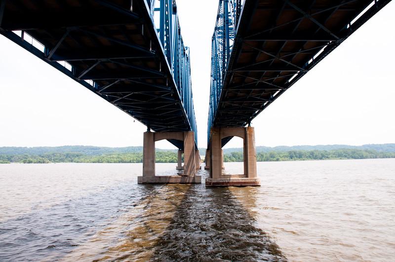 Under McClugage Bridge Peoria, IL Looking East