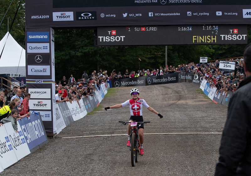 2019 U23 Women's XC race winner Sina Frei (Switzerland)