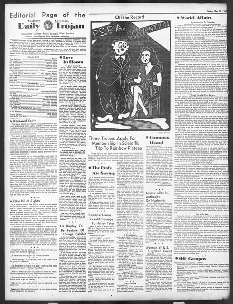 Daily Trojan, Vol. 27, No. 142, May 22, 1936
