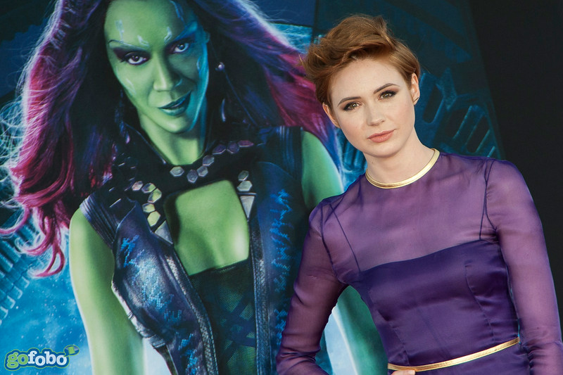 HOLLYWOOD, CA - JULY 21: Actress Karen Gillan attends Marvel's 'Guardians Of The Galaxy' Los Angeles Premiere at the Dolby Theatre on Monday July 21, 2014 in Hollywood, California. (Photo by Tom Sorensen/Moovieboy Pictures)