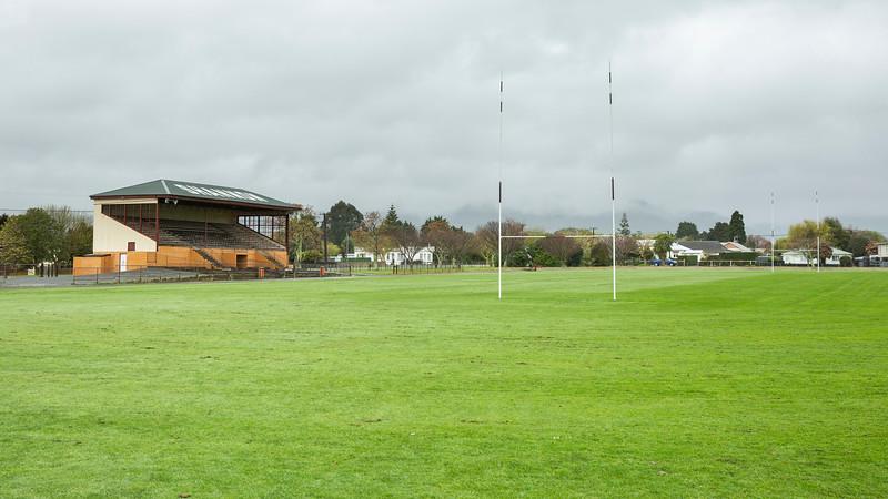 Image of Shannon Grandstand taken on 23 September 2020 in Shannon, Horowhenua, New Zealand. Copyright: John Mathews 2020.   phone 02744 54321
