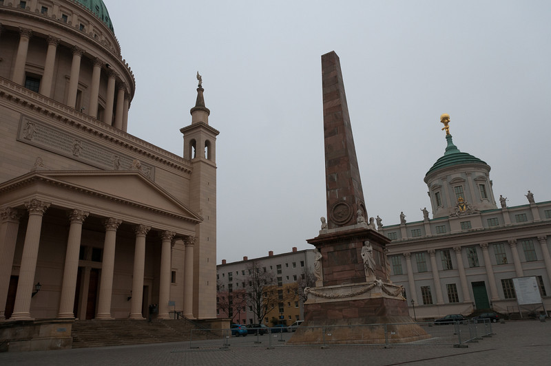 The Old Town Hall and St. Nicholas Church in Alte Markt in Potsdam, Germany