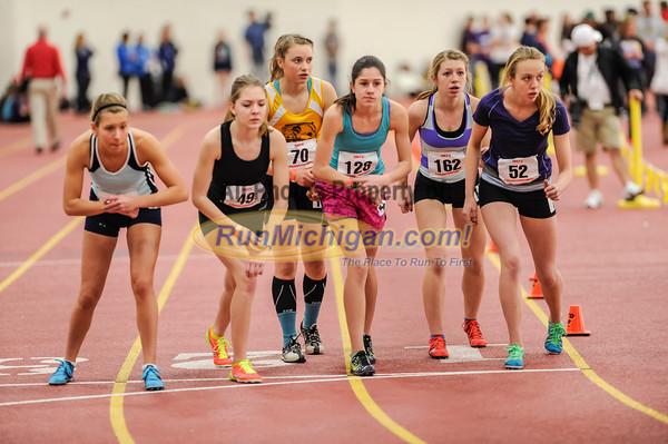Girls' 3200 Meters, Heat 1 - 2014 MITS State Meet