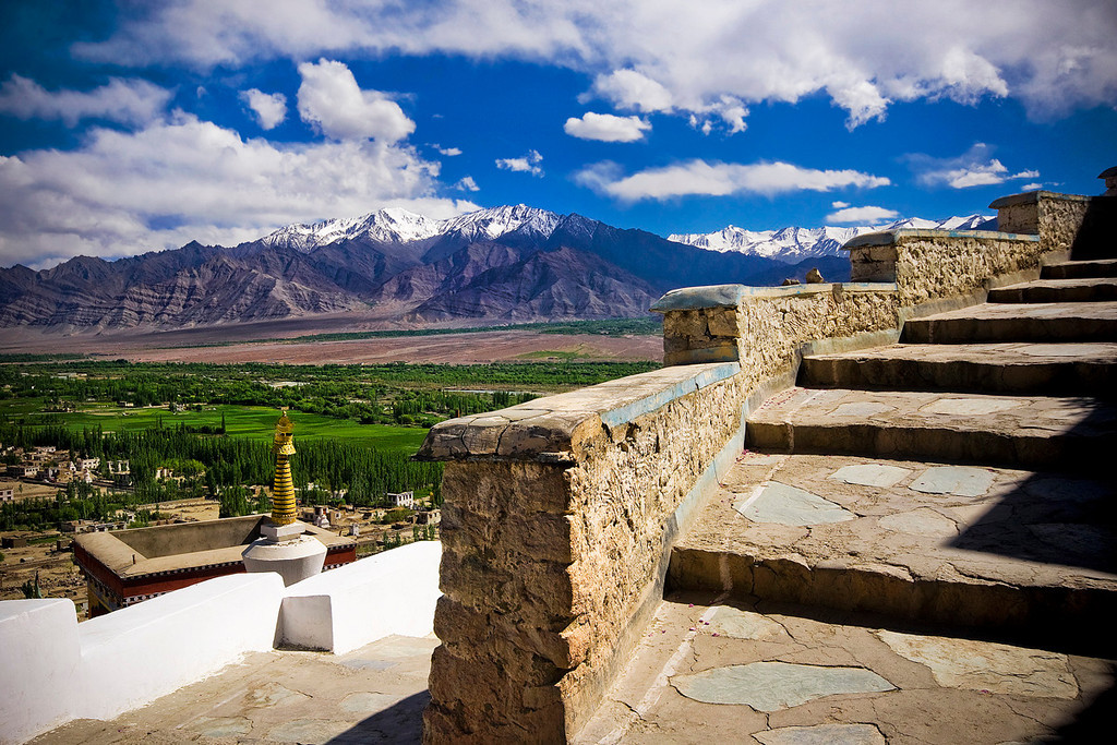 Climb up to Thiksey Monastery.