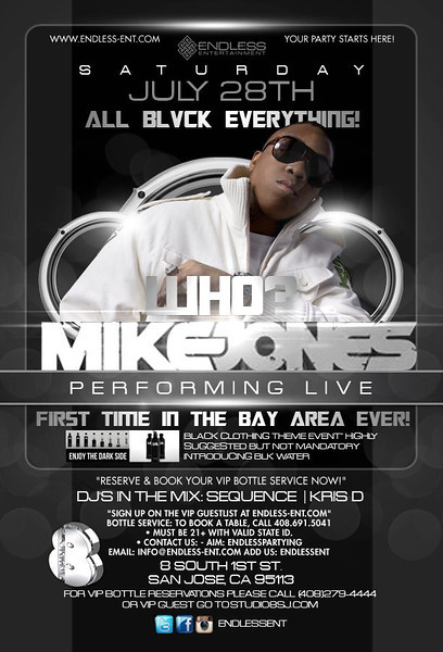 7/28 [All Blvck everything w/ MikeJones@Studio 8]