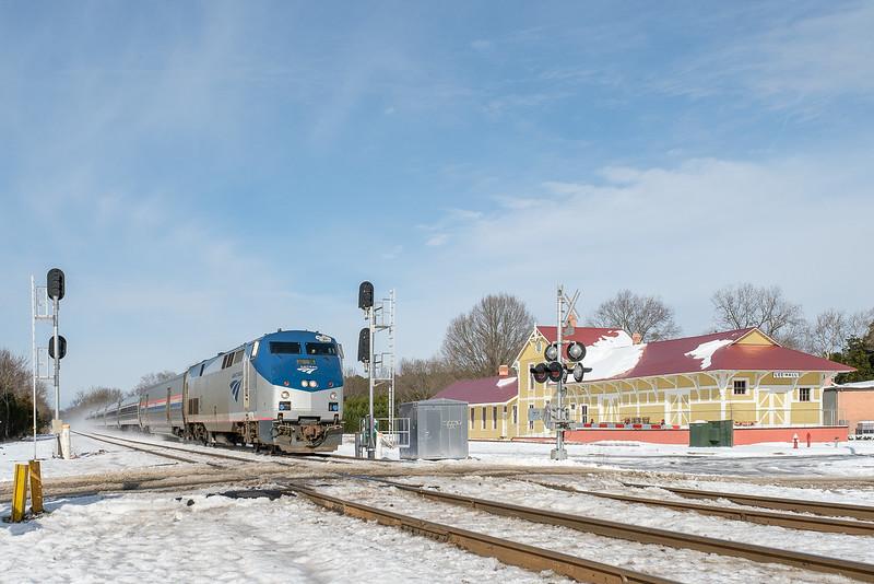 Amtrak Train #67 in Snow