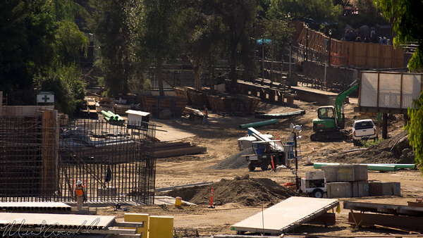Disneyland Resort, Disneyland, Star Wars Land, Frontierland, Critter Country, Construction, Rivers of America, River, America, Big Thunder Mountain Railroad, Big Thunder