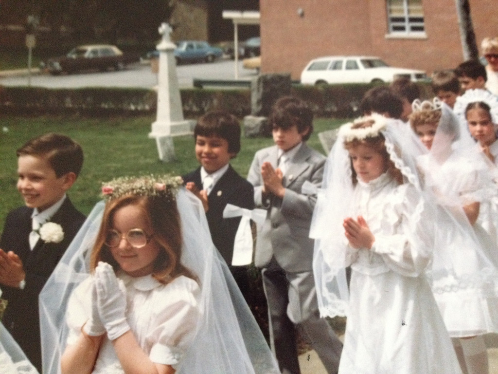 . Jimmy Fallow, far left, during his First Communion. (Photo provided by Maria Gruen)