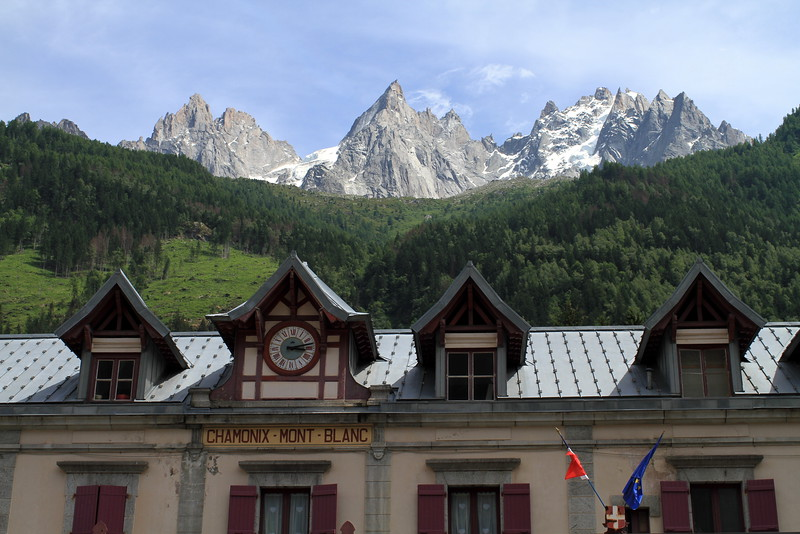 Leaving at Chamonix train station