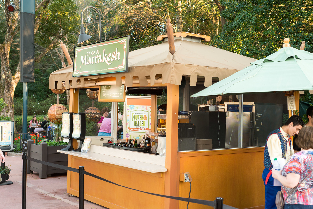 Taste of Marrakesh Food Kiosk - Epcot Flower & Garden Festival 2016
