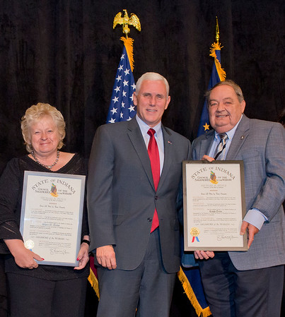 2015 Sagamore of the Wabash Award to Dr. Ralph and Dr. Sheri G. Trine