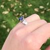 2.08ctw Sapphire and Diamond Ring, GIA No-Heat 25