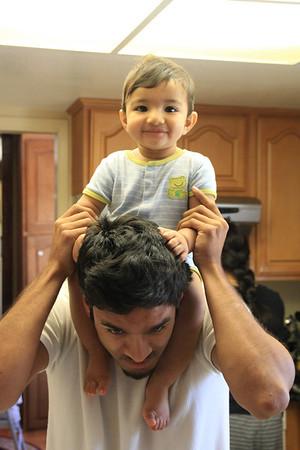 Ansh and his parents Vijay and Ramya Vaidya visit San Jose