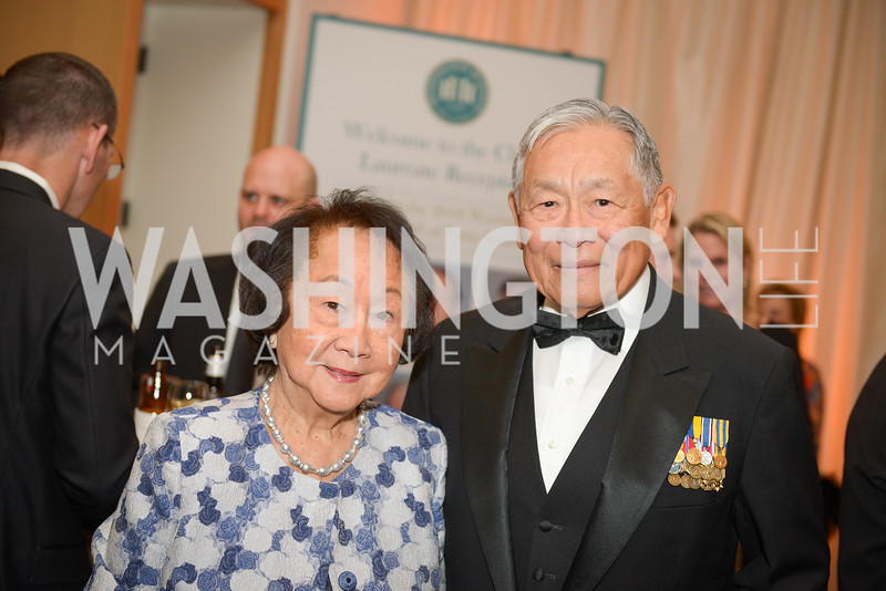 Brenda Pang, Frederick Pang,  The Washington Business Hall of Fame, at the National Building Museum, November 28, 2018.  Photo by Ben Droz.