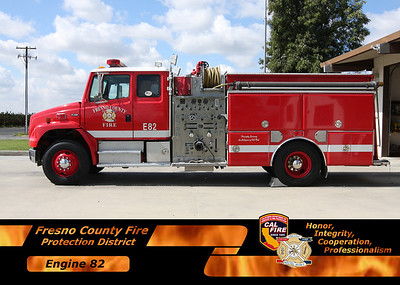 Cal Fire/Fresno County Fire Trading Card Magnets