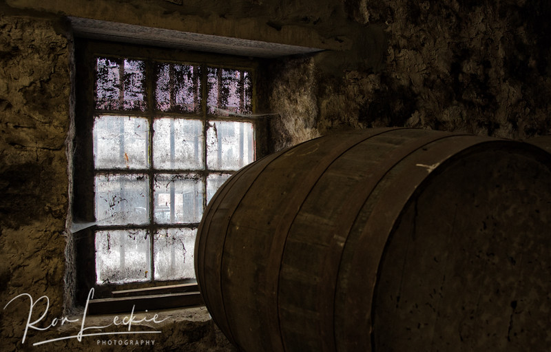 Tamdhu: The barrel warehouse - complete with cobwebs.