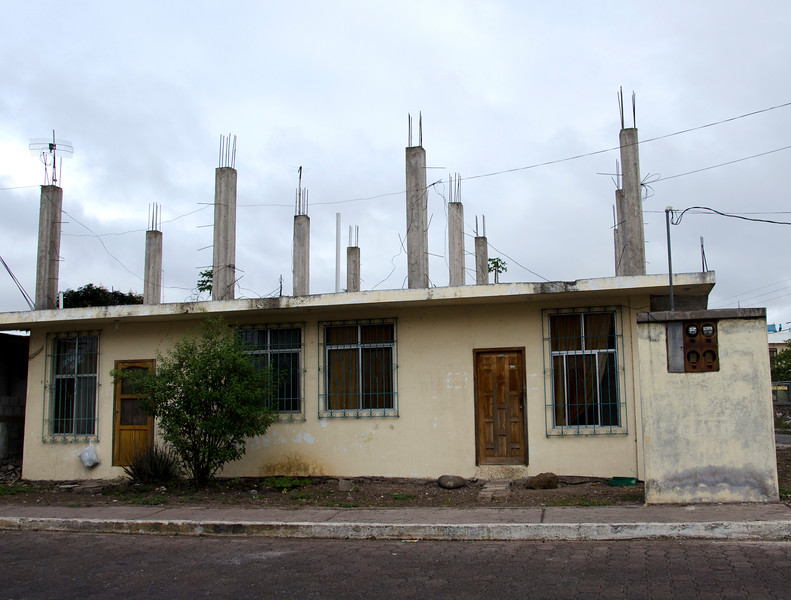 San Cristobal home with supports for a 2nd floor-- if/when there is money for it, or next generation wants to build on.