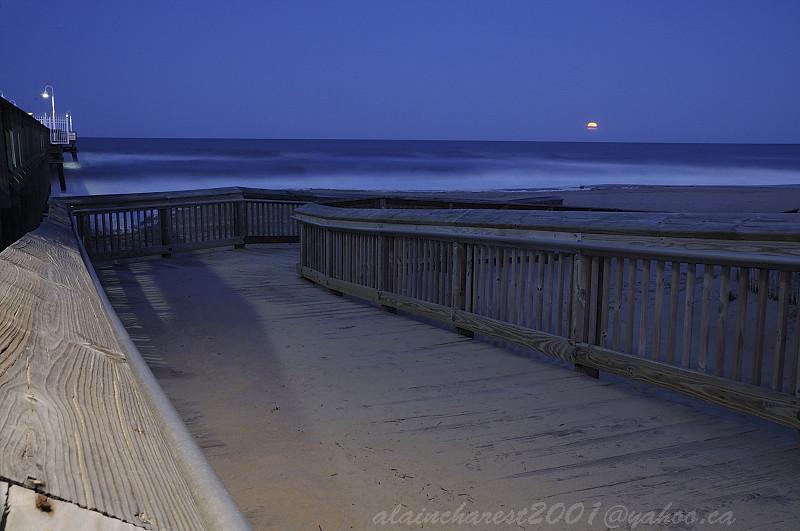 Pier Beach Moon