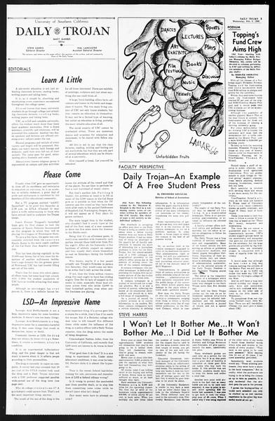 Daily Trojan, Vol. 57, No. 64, February 09, 1966