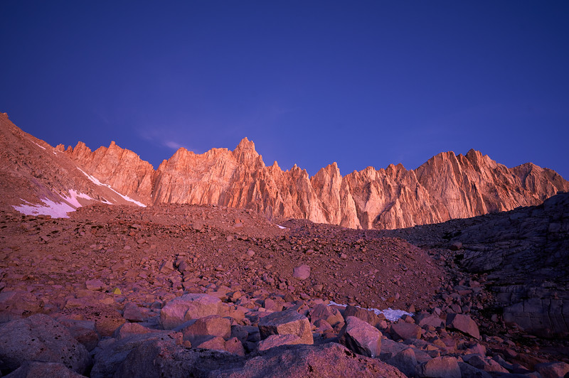 Alpenglow over Mount Whitney