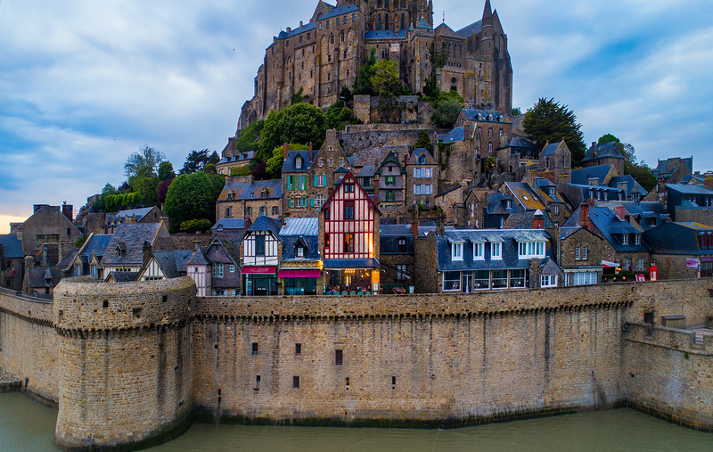Here's one of the charming little restaurants in Mont St Michel. The whole town has less than 50 people in it, so there's not a lot of choice better than this one!