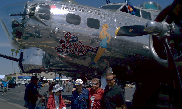 B-17 at Chandler Air Park 4-17-11