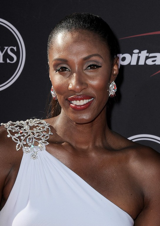 . Former WNBA player Lisa Leslie arrives at the ESPY Awards on Wednesday, July 17, 2013, at Nokia Theater in Los Angeles. (Photo by Jordan Strauss/Invision/AP)