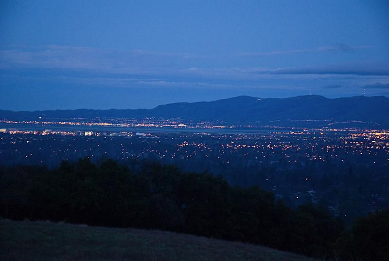 Bay Area at Dusk, from Rancho San Antonio
