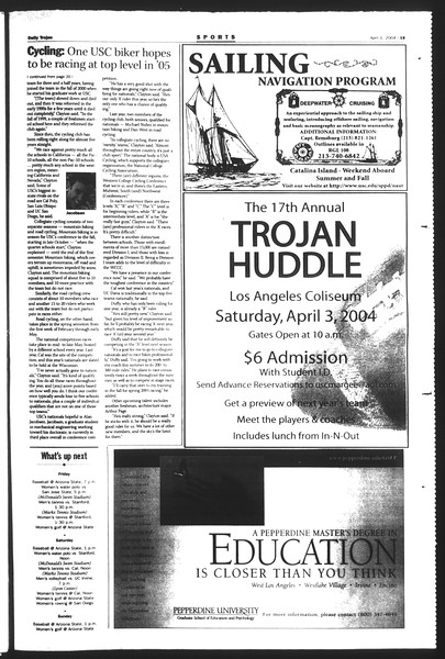 Daily Trojan, Vol. 151, No. 47, April 01, 2004