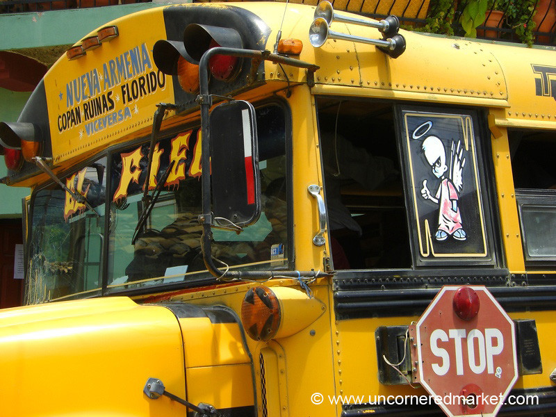 Yellow Chicken Bus - Copan, Honduras
