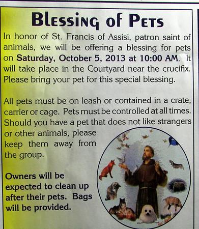 Pet Blessing - 10/5/2013 - Inez Wilson