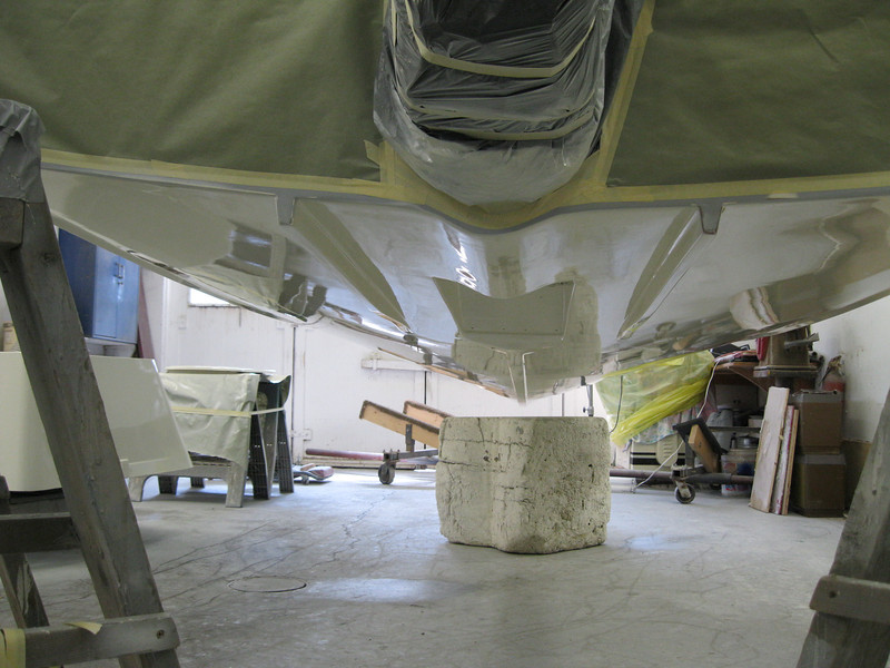 Rear view of bottom painted.